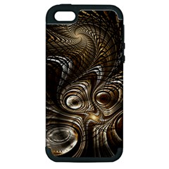 Fractal Art Texture Neuron Chaos Fracture Broken Synapse Apple iPhone 5 Hardshell Case (PC+Silicone)