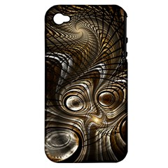 Fractal Art Texture Neuron Chaos Fracture Broken Synapse Apple Iphone 4/4s Hardshell Case (pc+silicone)