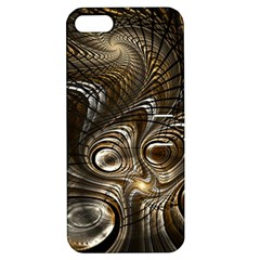 Fractal Art Texture Neuron Chaos Fracture Broken Synapse Apple iPhone 5 Hardshell Case with Stand