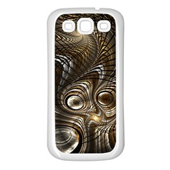 Fractal Art Texture Neuron Chaos Fracture Broken Synapse Samsung Galaxy S3 Back Case (White)