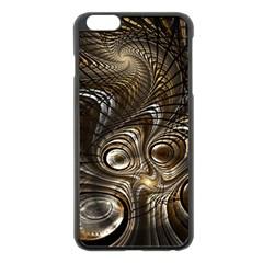 Fractal Art Texture Neuron Chaos Fracture Broken Synapse Apple iPhone 6 Plus/6S Plus Black Enamel Case