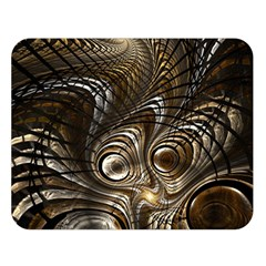 Fractal Art Texture Neuron Chaos Fracture Broken Synapse Double Sided Flano Blanket (large)