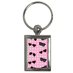 Pisunglass Tech Pink Pattern Key Chains (rectangle)