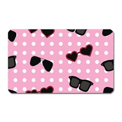 Pisunglass Tech Pink Pattern Magnet (Rectangular)