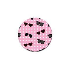 Pisunglass Tech Pink Pattern Golf Ball Marker (4 Pack)