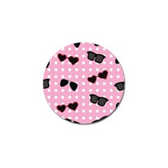 Pisunglass Tech Pink Pattern Golf Ball Marker (10 Pack)