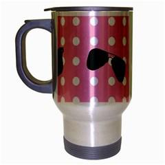Pisunglass Tech Pink Pattern Travel Mug (Silver Gray)