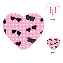 Pisunglass Tech Pink Pattern Playing Cards (Heart)