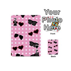 Pisunglass Tech Pink Pattern Playing Cards 54 (Mini)