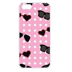 Pisunglass Tech Pink Pattern Apple Iphone 5 Seamless Case (white)