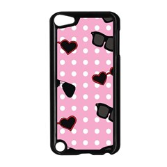 Pisunglass Tech Pink Pattern Apple iPod Touch 5 Case (Black)