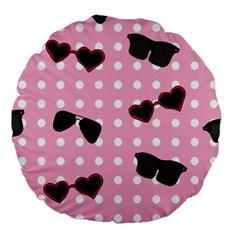 Pisunglass Tech Pink Pattern Large 18  Premium Round Cushions