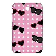 Pisunglass Tech Pink Pattern Samsung Galaxy Tab 3 (7 ) P3200 Hardshell Case
