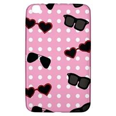 Pisunglass Tech Pink Pattern Samsung Galaxy Tab 3 (8 ) T3100 Hardshell Case