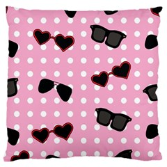 Pisunglass Tech Pink Pattern Large Flano Cushion Case (One Side)