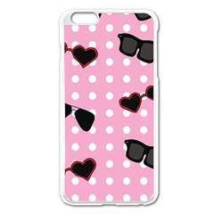 Pisunglass Tech Pink Pattern Apple Iphone 6 Plus/6s Plus Enamel White Case