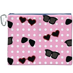 Pisunglass Tech Pink Pattern Canvas Cosmetic Bag (XXXL)