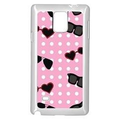 Pisunglass Tech Pink Pattern Samsung Galaxy Note 4 Case (White)