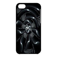 Fractal Disk Texture Black White Spiral Circle Abstract Tech Technologic Apple iPhone 5C Hardshell Case