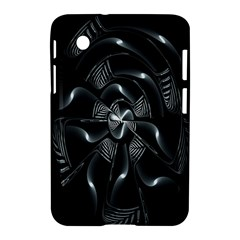Fractal Disk Texture Black White Spiral Circle Abstract Tech Technologic Samsung Galaxy Tab 2 (7 ) P3100 Hardshell Case
