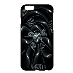 Fractal Disk Texture Black White Spiral Circle Abstract Tech Technologic Apple iPhone 6 Plus/6S Plus Hardshell Case