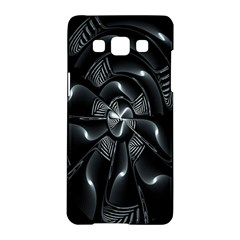 Fractal Disk Texture Black White Spiral Circle Abstract Tech Technologic Samsung Galaxy A5 Hardshell Case