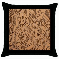 Mechanical Tech Pattern Throw Pillow Case (Black)