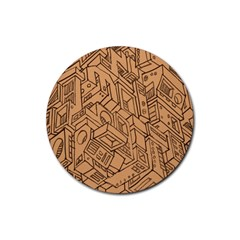 Mechanical Tech Pattern Rubber Coaster (round)