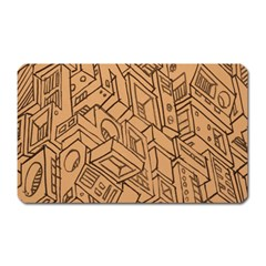 Mechanical Tech Pattern Magnet (Rectangular)