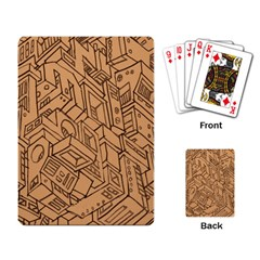 Mechanical Tech Pattern Playing Card