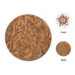 Mechanical Tech Pattern Playing Cards (Round)