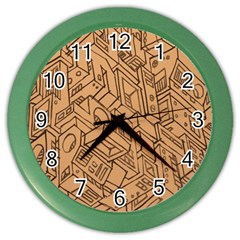 Mechanical Tech Pattern Color Wall Clocks
