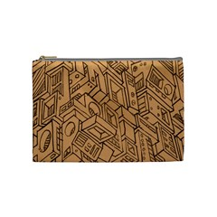 Mechanical Tech Pattern Cosmetic Bag (Medium)