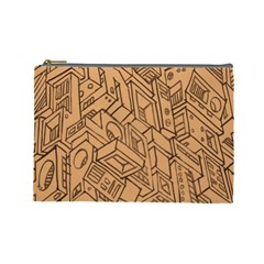 Mechanical Tech Pattern Cosmetic Bag (large)