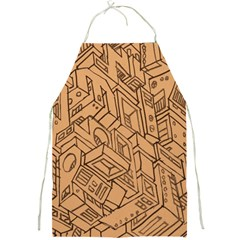 Mechanical Tech Pattern Full Print Aprons