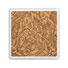 Mechanical Tech Pattern Memory Card Reader (square)
