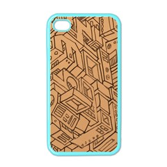 Mechanical Tech Pattern Apple iPhone 4 Case (Color)