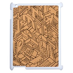Mechanical Tech Pattern Apple iPad 2 Case (White)