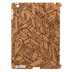 Mechanical Tech Pattern Apple Ipad 3/4 Hardshell Case (compatible With Smart Cover)