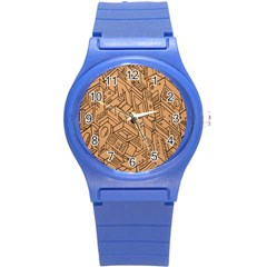 Mechanical Tech Pattern Round Plastic Sport Watch (S)