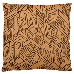 Mechanical Tech Pattern Large Cushion Case (Two Sides)