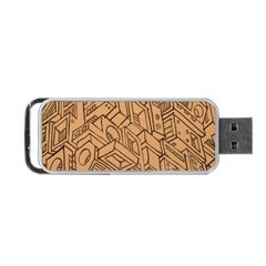 Mechanical Tech Pattern Portable USB Flash (One Side)