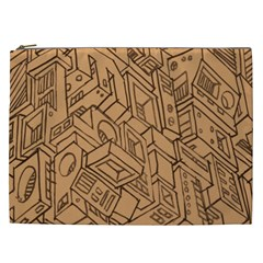 Mechanical Tech Pattern Cosmetic Bag (XXL)