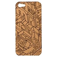 Mechanical Tech Pattern Apple iPhone 5 Hardshell Case