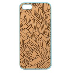 Mechanical Tech Pattern Apple Seamless iPhone 5 Case (Color)