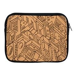 Mechanical Tech Pattern Apple iPad 2/3/4 Zipper Cases