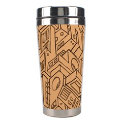 Mechanical Tech Pattern Stainless Steel Travel Tumblers