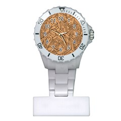 Mechanical Tech Pattern Plastic Nurses Watch