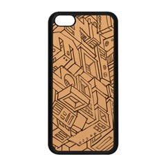 Mechanical Tech Pattern Apple iPhone 5C Seamless Case (Black)