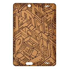 Mechanical Tech Pattern Amazon Kindle Fire Hd (2013) Hardshell Case
